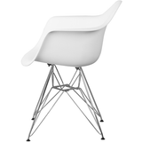 Apollonia Series Plastic Bucket Chair with Chrome Base