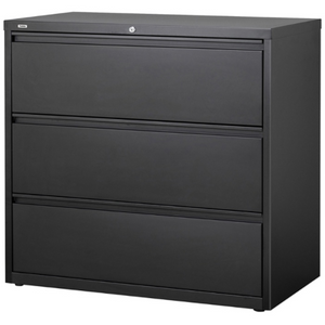 "(Scratch & Dent) WorkPro 36""W 3-Drawer Steel Lateral File Cabinet, Charcoal"