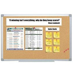 "(Scratch & Dent) FORAY Aluminum-Framed Cork Bulletin Board, 24"" x 36"""