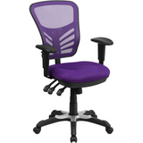 Mid-Back Mesh Multifunction Executive Swivel Ergonomic Office Chair with Adjustable Arms