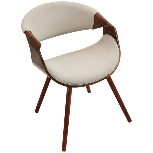 La Volna Reception Chair Walnut Frame
