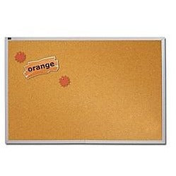 (Scratch & Dent) OF4S Quartet Outlet Education Cork Bulletin Board With Aluminum Frame, 48