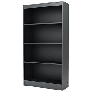 South Shore Axess 4-Shelf Bookcase, Pure Black Item # 1997155