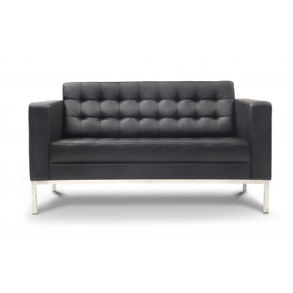 Chiarezza Leather Love Seat Bonded Leather