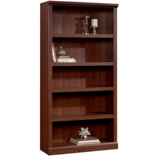 (Scratch & Dent) Realspace Premium Bookcase, 5-Shelf, Brick Cherry Item # 719753