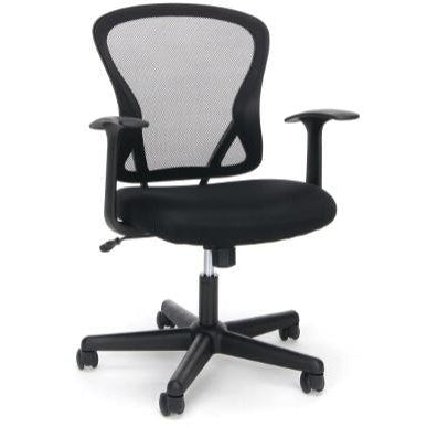 Sharpline Mesh Mid-Back Chair, Black