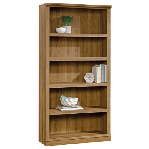(Scratch & Dent) Realspace Premium Bookcase, 5-Shelf, Golden Oak Item # 775506
