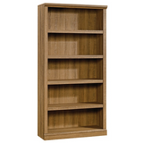 Realspace Premium Bookcase, 5-Shelf, Golden Oak