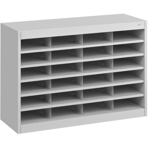 Safco E-Z Stor Steel Literature Organizer, 24 Compartments, 25 3/4