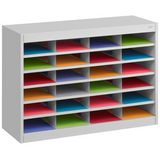 "Safco E-Z Stor Steel Literature Organizer, 24 Compartments, 25 3/4""H, Gray Item # 336612"