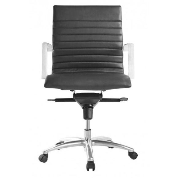 Sense Ribbed Mid-Back Leather Chair
