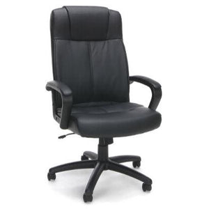 Sharpline Executive Leather High-Back Chair, Black
