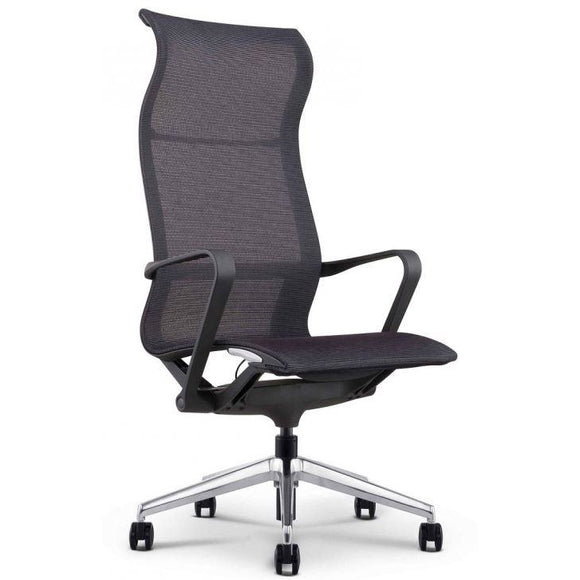 Fina High Profile Executive Mesh Chair, Black