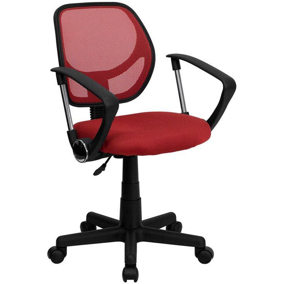 Low Back Mesh Swivel Task Office Chair with Arms