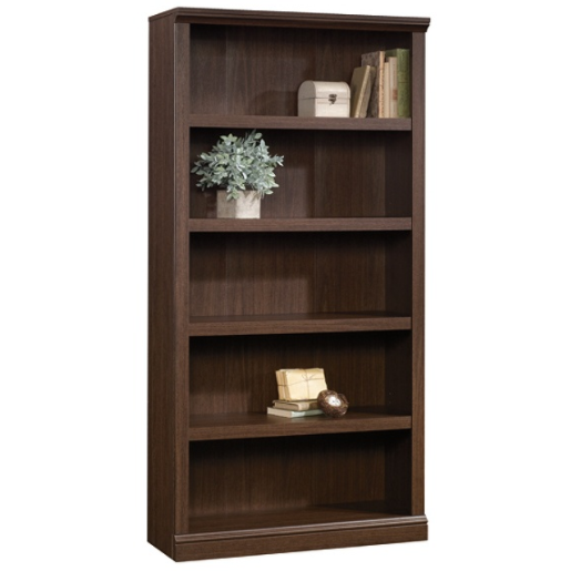 Realspace OUTLET Premium Bookcase, 5-Shelf, Mocha