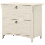 Bush Furniture Outlet Salinas Lateral File Cabinet, Antique White