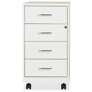 "(Scratch & Dent) Lorell 26.5""D 4-Drawer Mobile Steel Letter-Size Vertical File Cabinet, White Item # 497217"