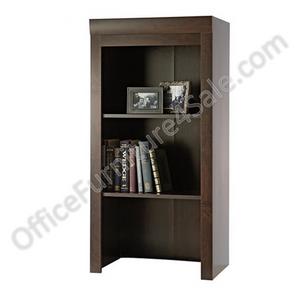 "(Scratch & Dent) Sauder Outlet Office Port Collection, Library Hutch, 47 1/2""H x 23 1/4""W x 15 3/4""D, Dark Alder"