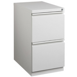 "(Scratch & Dent) WorkPro 20""D 2-Drawer Vertical Mobile Pedestal File Cabinet, Light Gray"