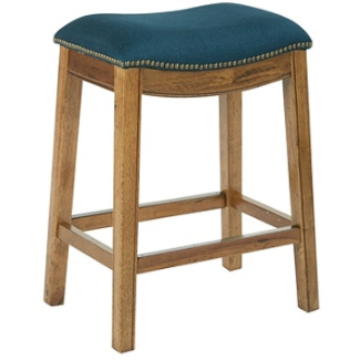 Ave Six Austin Counter Stool, Klein Azure/Mocha Item # 4021383