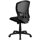 Mid-Back Designer Back Swivel Task Chair with Fabric Seat