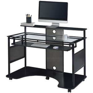 "Z-Line Designs Outlet Mobile Workstation Desk, 36""H x 48""W x 26""D, Black"