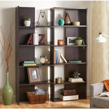 Realspace Outlet Cove Springs Expanding 5-Shelf Bookcase, Espresso