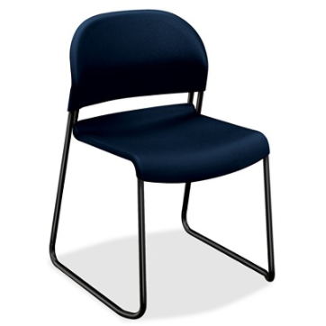 HON GuestStacker 4030 Series Stacking Chairs,Blue, Item # 577046