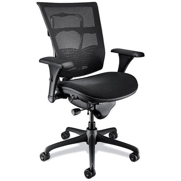 (Scratch and Dent) WorkPRO Outlet Mesh Mid-Back Chair, Black
