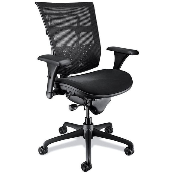 WorkPRO Outlet Mesh Mid-Back Chair, Black
