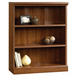 Sauder Camden County Bookcase, 3 Shelves, Planked Cherry