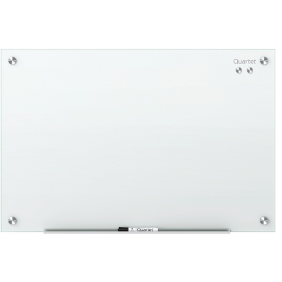 Quartet Infinity Magnetic White Glass Frameless Dry-Erase Board, 48