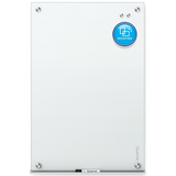 "Quartet Infinity Magnetic White Glass Frameless Dry-Erase Board, 48"" x 36"""