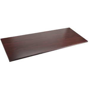 "(Scratch & Dent) Lorell Quadro Sit-To-Stand Laminate Table Top, 72""W x 24""D, Mahogany"