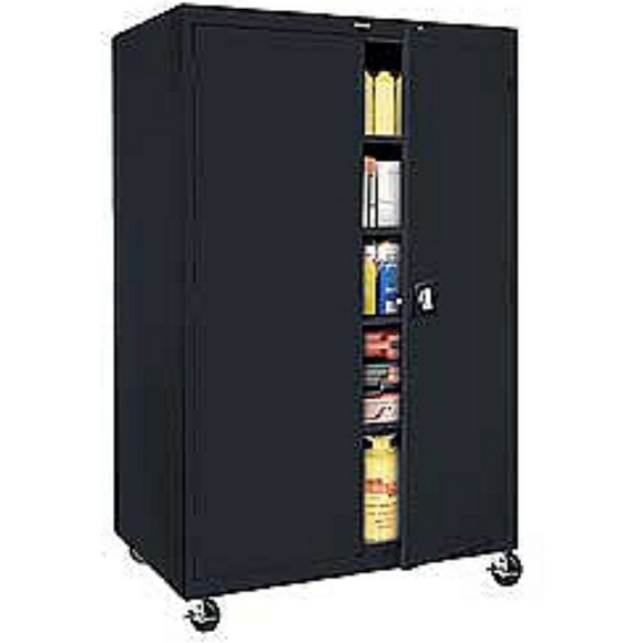 Sandusky Mobile Steel Storage Cabinet, 78