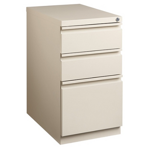 "(Scratch & Dent) WorkPro 20""D 3-Drawer Vertical Mobile Pedestal File Cabinet, Putty"