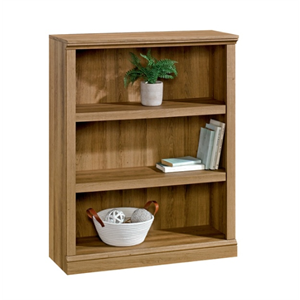 Realspace Premium Bookcase, 3-Shelf, Golden Oak