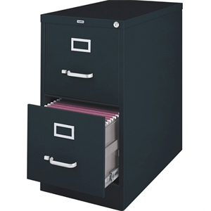 (Scratch & Dent) Lorell Fortress Series 26 1/2''D 2-Drawer Legal-Size Steel Vertical File, Black