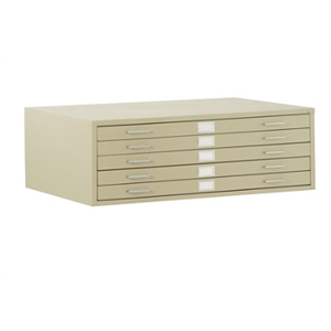 (Scratch & Dent) Sandusky 5-Drawer Flat File, 16 1/8
