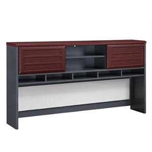 (Scratch & Dent) Ameriwood Altra Pursuit Hutch, Cherry/Gray