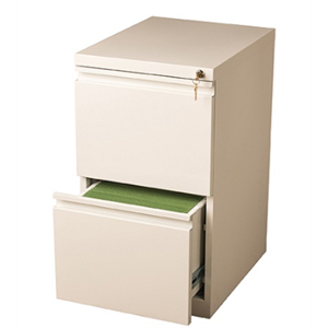"(Scratch & Dent) WorkPro 20""D 2-Drawer Vertical Mobile Pedestal File Cabinet, White"