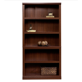 Sauder Select Bookcase, 5 Shelf, Select Cherry