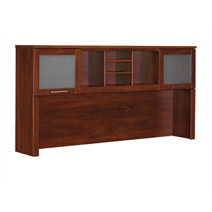 "Bush Furniture Somerset Hutch for L Shaped Desk, 72""W, Hansen Cherry"