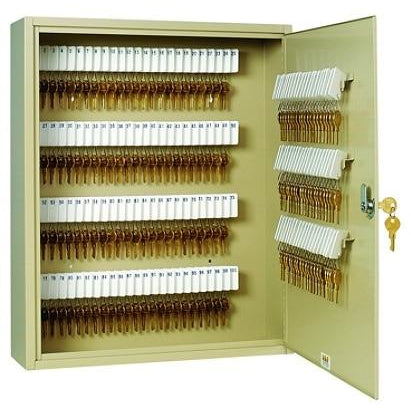 Steelmaster 200-Key Tag-Style Steel Key Cabinet, Sand