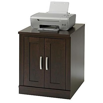 Sauder Outlet Office Port Library Base, Dark Alder