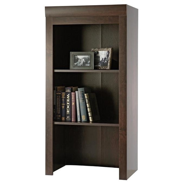 Sauder Outlet Office Port Collection, Library Hutch, Dark Alder