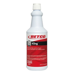 Betco Kling Toilet Cleaner, Mint Scent, 32 Oz, Red, Case Of 12