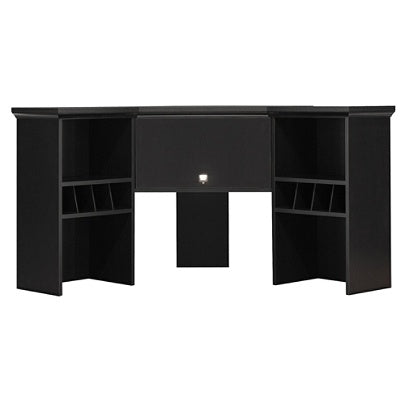 Bush Furniture Stockport Corner Hutch, Classic Black