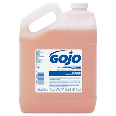 GOJO Outlet Citrus-Scent Body And Hair Shampoo Refills, 128 Oz, Pack Of 4