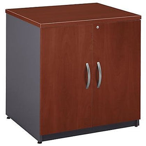"Bush Business Furniture Outlet Components Storage Cabinet, 30""W, Hansen Cherry/Graphite Gray"